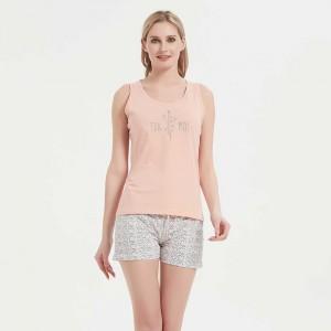 Pijama corto algodón Marina...