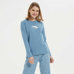 Pijama largo algodón Jane...
