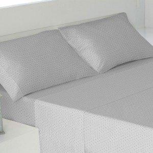 Jogos de lençois algodão 180 LIMOGES CINZA PEROLA