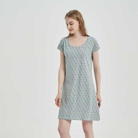 Blusón algodón Irene azul conjuntos