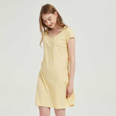 Blusón algodón Paola amarillo conjuntos