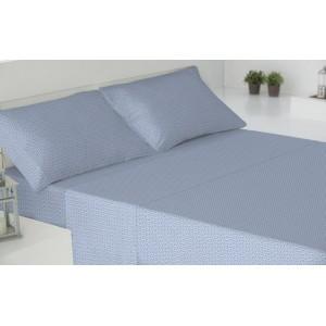 Parure de lit au coton 160 LIMOGES ÍNDIGO