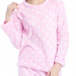 Pijama coral ESTRELLITAS ROSA pyjamas-coral