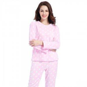 Pijama coral ESTRELLITAS ROSA