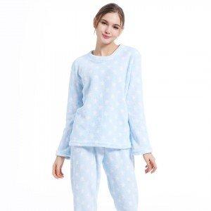 Pijama coral ESTRELLITAS CELESTE