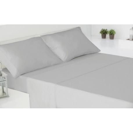 Juego de sábanas algodón 150 GRIS PERLA