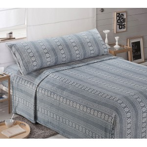Parure de lit de velours 90 PAPI GRIS