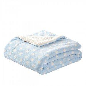 Cobertor SHERPA ESTRELLITAS CELESTE