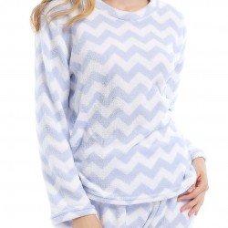 Pijama coral ZIGZAG INDIGO pijama-invierno