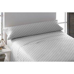 Parure de lit de flannelle 140 MICHIGAN GRIS PERLE