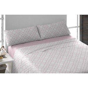 Parure de lit au coton 160 MAYA MAUVE