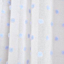 Cortina POMPOM CELESTE cortinas-translucidas