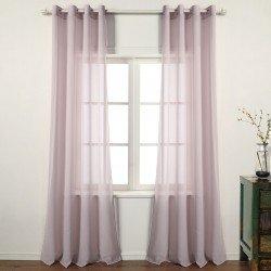 Cortina Molly Malva cortinas-translucidas