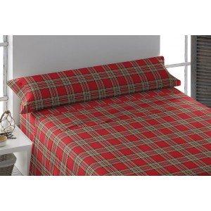 Parure de lit de flannelle 90 CUADRO ROMA