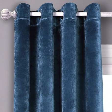 cortina velours bleu. Black Bedroom Furniture Sets. Home Design Ideas