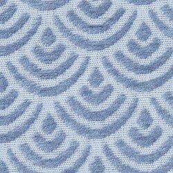 Cortina Jacquard Chenilla Sol azul índigo 140X260 rideaux-opaques