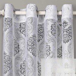 Cortina BURNOUT IGUAZU Blanco cortinas-translucidas