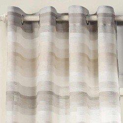 Cortina Libia gris perla semitranslucidas