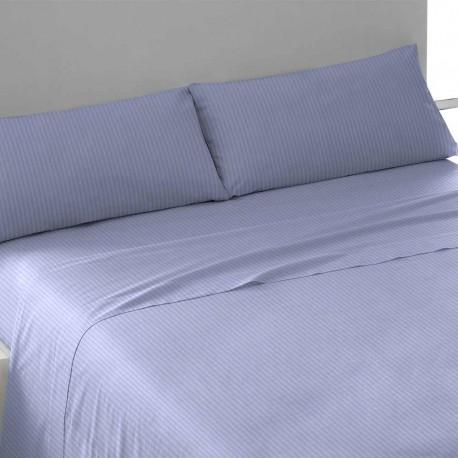 Juego de sábanas algodón satén azul indigo 135 cama-135