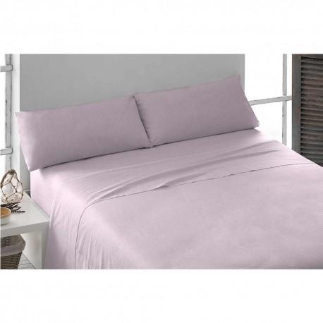 Parure de lit au coton SATIN 160 MAUVE