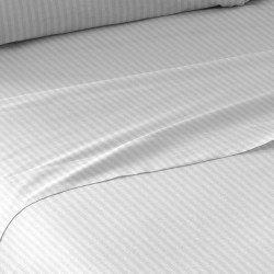 Juego de sábanas algodón SATÉN 180 BLANCO