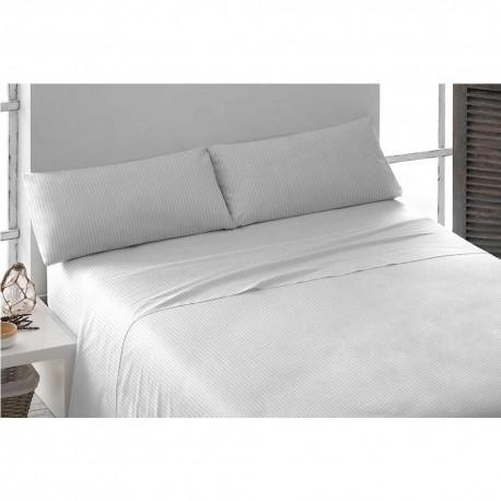 Juego de sábanas algodón SATÉN 180 BLANCO cama-180