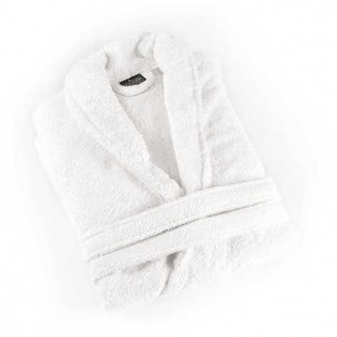 Albornoz liso Blanco 380gr - Colección Hotel Unisex albornoces