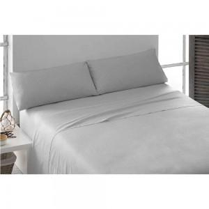 Parure de lit au coton SATIN 140 GRIS PERLE