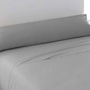 Juego de sábanas algodón 90 GRIS PERLA