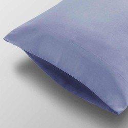 Funda Almohada lisa Algodón 105 Azul Indigo cama-105