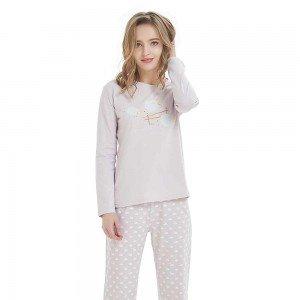Pijama Largo Ovejitas Malva
