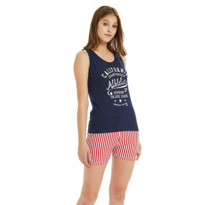Pijama Corto California  Azul