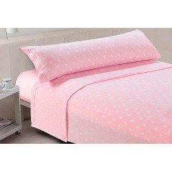 Juegos de sábanas termales 90 BABY DOTS ROSA cama-90