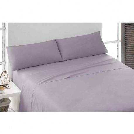 Juego de sábanas 100% Algodón PERCAL 150 Malva cama-150