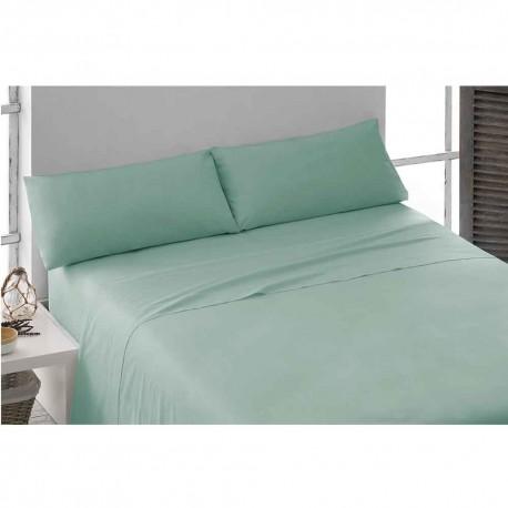 Juego de sábanas 100% Algodón PERCAL 180 Verde Tiffany cama-180