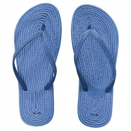 Chanclas lisa Azul Indigo chanclas
