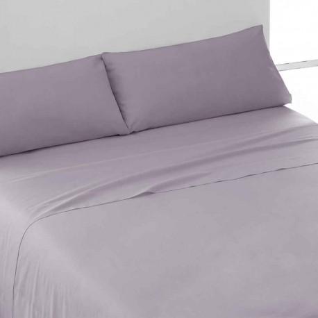 Juegos de sábanas algodón percal malva 180 cama-180