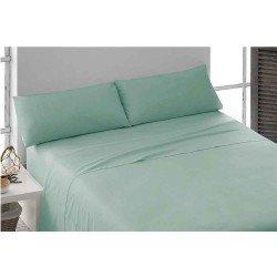 Juegos de sábanas algodón percal verde Tiffany 150 cama-150