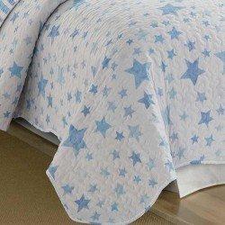 Colcha bouti 180x270 ACUARELA Azul cama-90