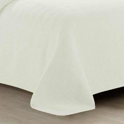 Colcha fina jacquard Bordado natural 200x270 cama-105