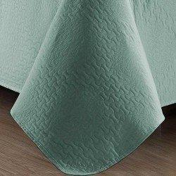 Colcha fina jacquard Gotas verde tiffany 240x270 cama-135
