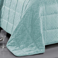 Colcha jacquard Maya verde tiffany 200x270 100gr cama-105