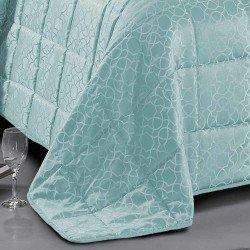 Colcha Jacquard Maya verde Tiffany 180gr 200x270 cama-105