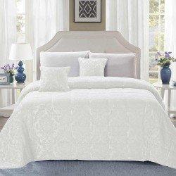 Colcha jacquard chenilla Ornamental blanco 180x270 80gr cama-90