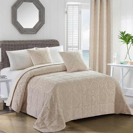 COLCHA JACQUARD CHENILLA ORNAMENTAL NATURAL 280X270  80GR cama-180