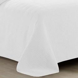 Colcha fina jacquard Bordado blanco 280x270 cama-180