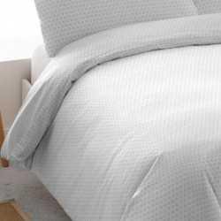 Funda nórdica algodon 180 CORCEGA REV Gris Perla cama-180