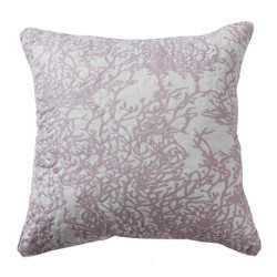 Cojin cuadrante Corales Malva - Funda + Relleno cojines-decorativos-estampados