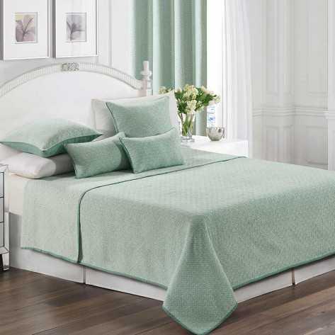 Colcha fina 240x270 Jacquard Chenilla Flecha Verde Tiffany cama-135