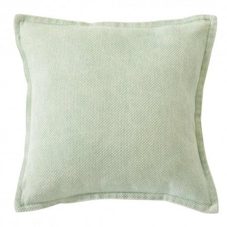 Cojin Algodón TEXTURA Verde Tiffany - Funda + Relleno cojines-decorativos-lisos